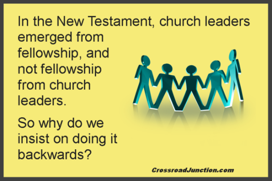 Don't be so hyper about needing leaders. They will emerge, in God's timing, and if authentic, will lead by example as ones who are among you and not over you. Until then, just learn have fellowship where you can minister one to another - as taught in the New Testament. http://crossroadjunction.com/2011/10/31/leadership/